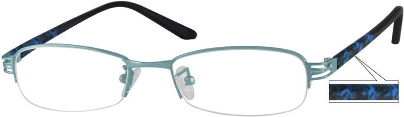 WomenHalf RimMixed MaterialsEyeglasses #470717
