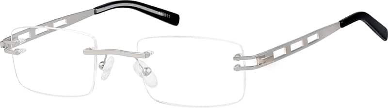 Silver4726 Stainless Steel Rimless Frame