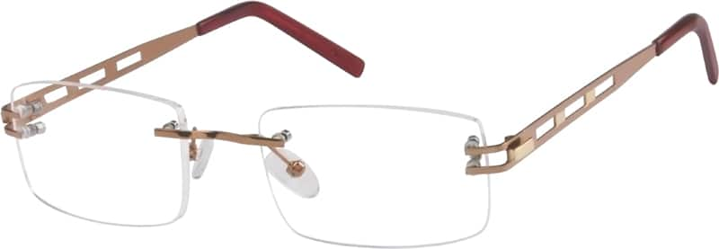 Brown4726 Stainless Steel Rimless Frame
