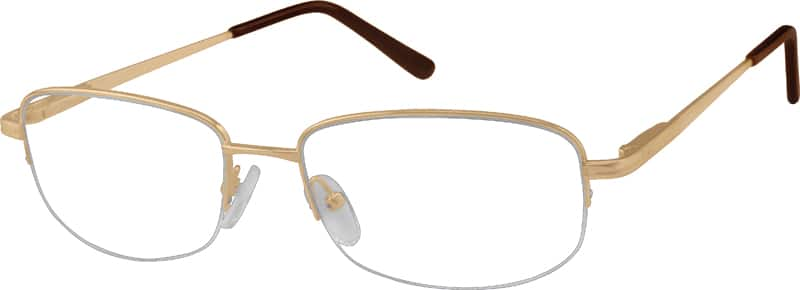 Men Half Rim Metal Eyeglasses #473114