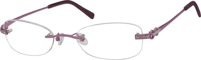 Zenni Optical Rimless Glasses : Purple Rimless Metal Frame #4771 Zenni Optical Eyeglasses