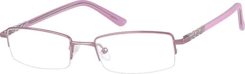 WomenHalf RimMetalEyeglasses #477519