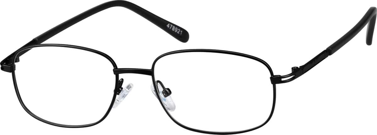 Metal Alloy Rectangular Eyeglasses