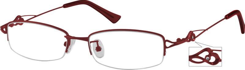 WomenHalf RimMetalEyeglasses #479016