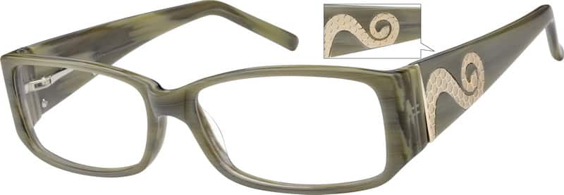 Women Full Rim Acetate/Plastic Eyeglasses #480842