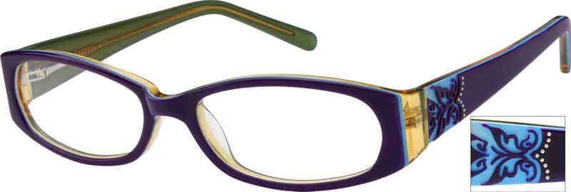 WomenFull RimAcetate/PlasticEyeglasses #481724