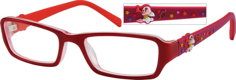 GirlFull RimAcetate/PlasticEyeglasses #485117