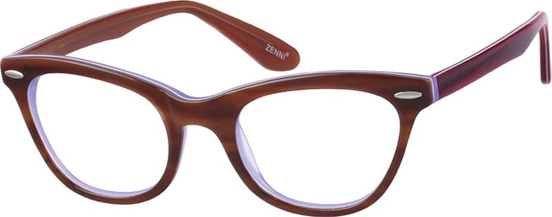Brown 4876 Acetate Full-Rim Frame