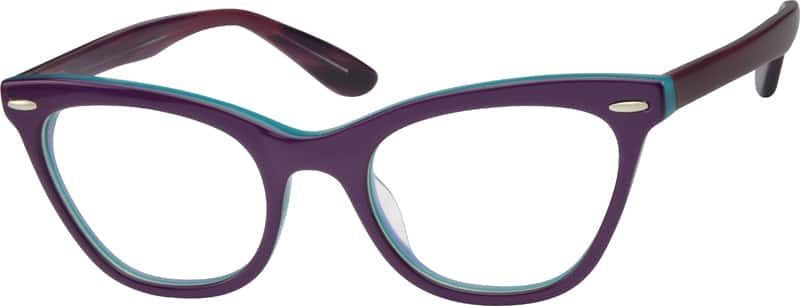 Purple 4876 Acetate Full-Rim Frame