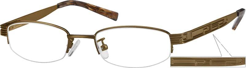 BoyHalf RimStainless SteelEyeglasses #496215