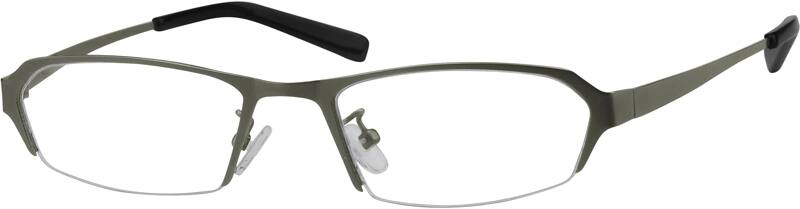 MenHalf RimStainless SteelEyeglasses #496721