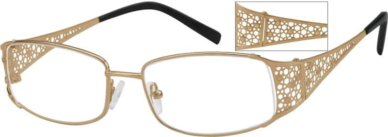 Women Full Rim Stainless Steel Eyeglasses #497114