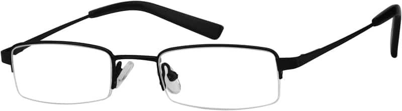 BoyHalf RimStainless SteelEyeglasses #497421