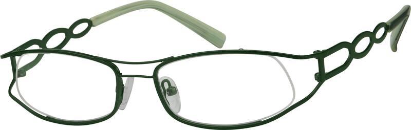 WomenHalf RimMetalEyeglasses #497724