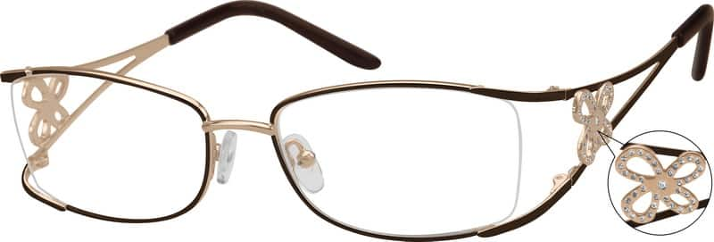 Brown Stainless Steel Frame #4978 Zenni Optical Eyeglasses