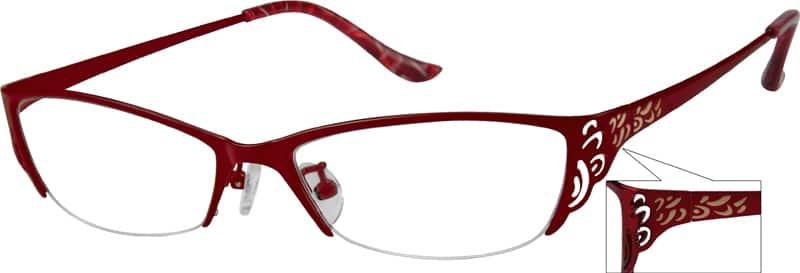 WomenHalf RimStainless SteelEyeglasses #499921
