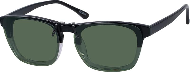 Wayfarer-Style Eyeglasses With Sunshades