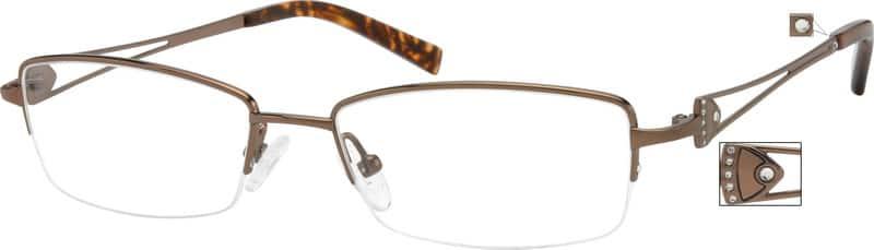 WomenHalf RimTitaniumEyeglasses #520115