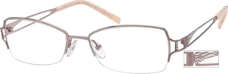 WomenHalf RimTitaniumEyeglasses #520214