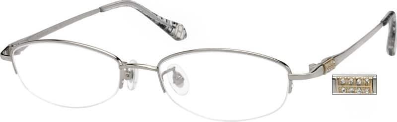 WomenHalf RimTitaniumEyeglasses #520711