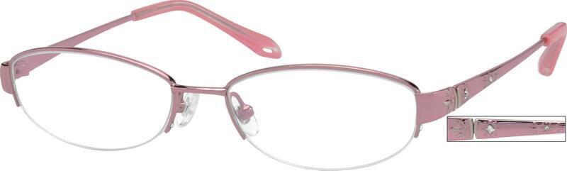 WomenHalf RimTitaniumEyeglasses #521119