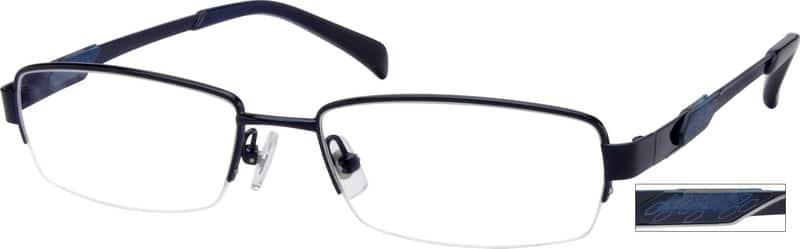 MenHalf RimTitaniumEyeglasses #521216