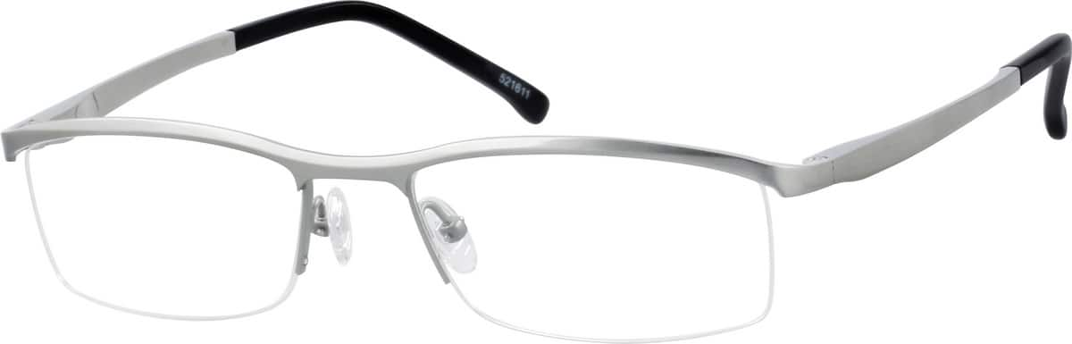 Pure Titanium Half-Rim Frame With Spring Hinges