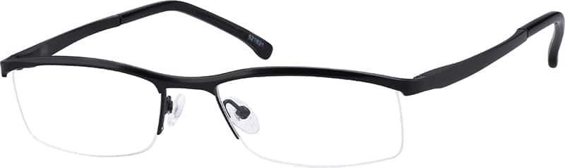 521621-pure-titanium-half-rim-frame-with-spring-hinges