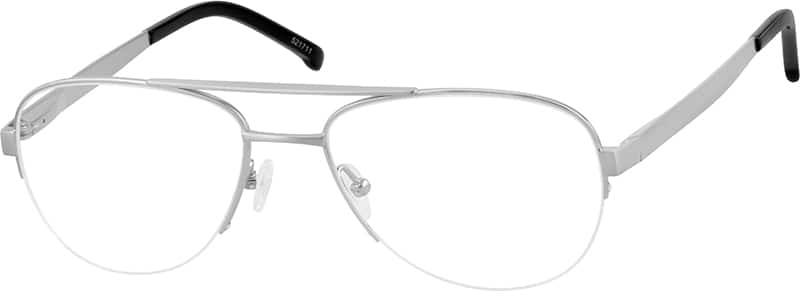 521711-pure-titanium-half-rim-frame-with-spring-hinges