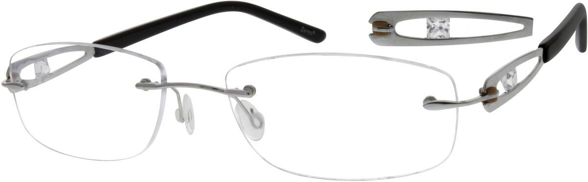 Women Rimless Titanium Eyeglasses #523516