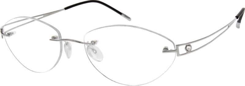 WomenRimlessTitaniumEyeglasses #523611