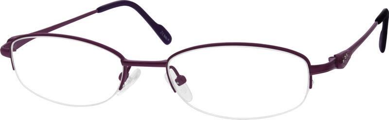 WomenHalf RimTitaniumEyeglasses #525117