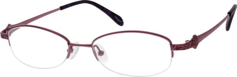 WomenHalf RimTitaniumEyeglasses #525819