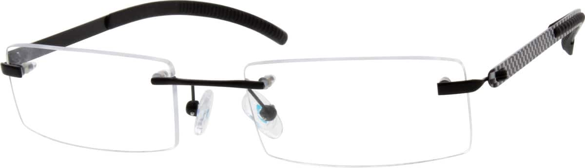 Men Rimless Titanium Eyeglasses #526215