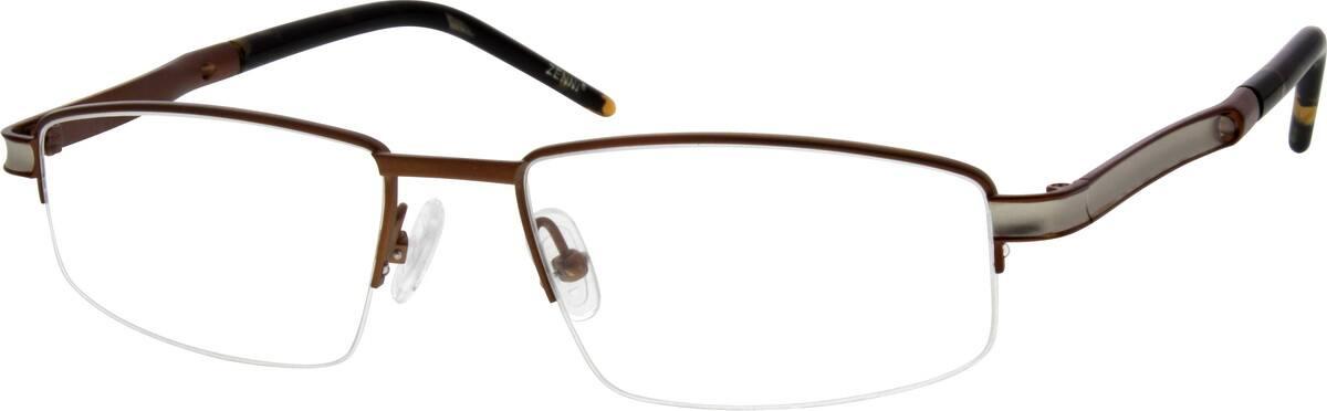 MenHalf RimTitaniumEyeglasses #526411