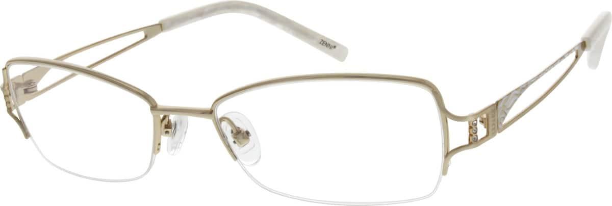 WomenHalf RimTitaniumEyeglasses #526919