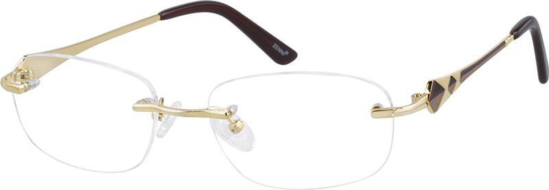 Women Rimless Titanium Eyeglasses #527114