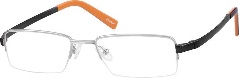 MenHalf RimTitaniumEyeglasses #527811