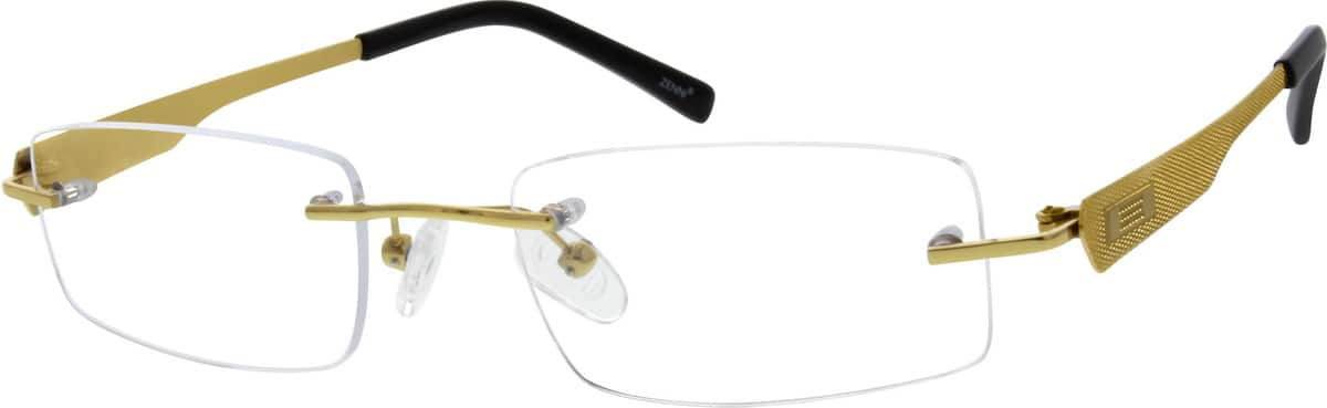 Men Rimless Titanium Eyeglasses #527912