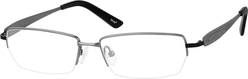 MenHalf RimTitaniumEyeglasses #528615