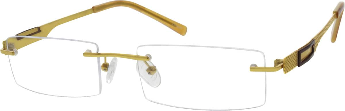 MenRimlessTitaniumEyeglasses #529614
