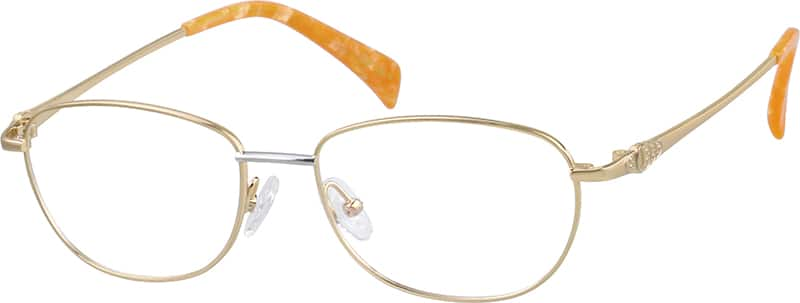 womens-pure-titanium-full-rim-eyeglass-frame-with-embossed-patterns-529814
