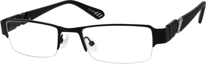 Men Half Rim Mixed Materials Eyeglasses #530512
