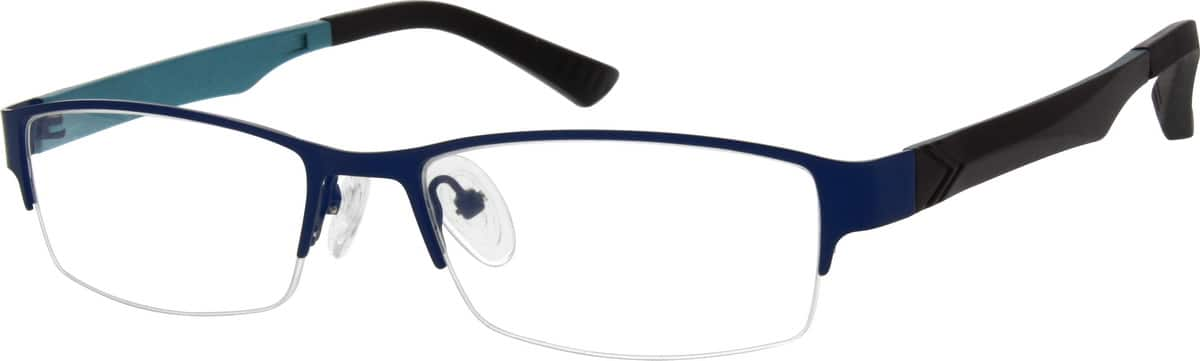 Men Half Rim Mixed Materials Eyeglasses #531316