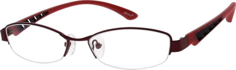 Women Half Rim Mixed Materials Eyeglasses #531521