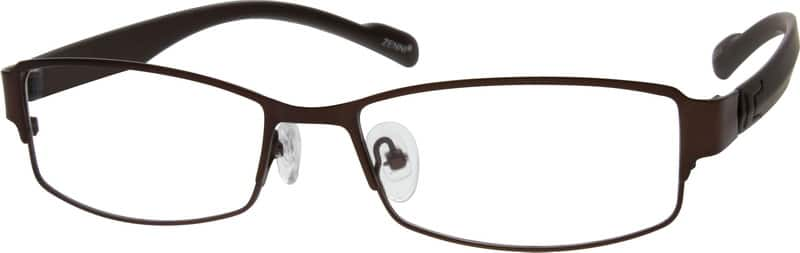 Men Full Rim Mixed Materials Eyeglasses #532015