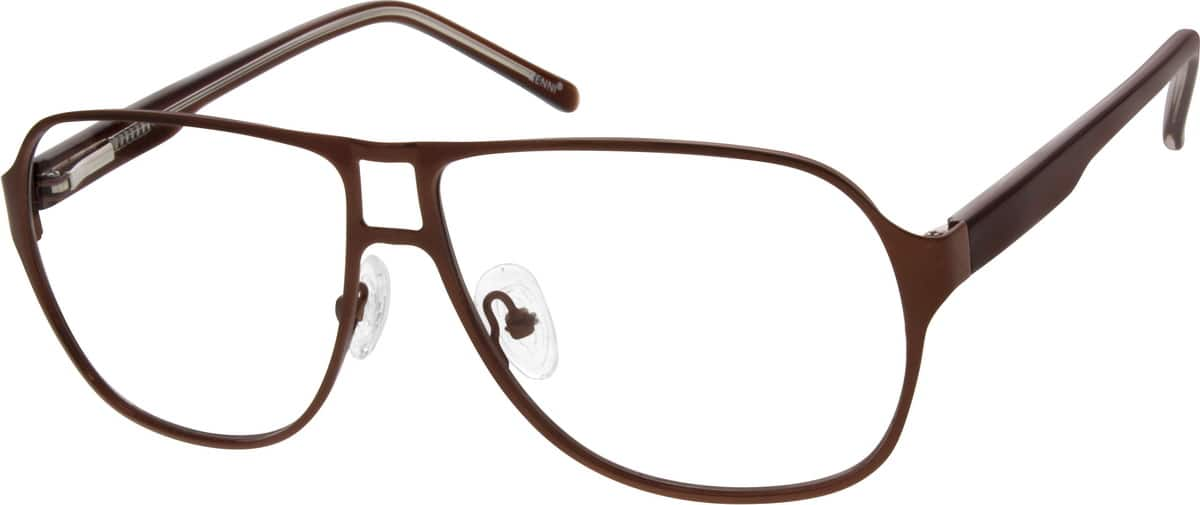 Men Full Rim Mixed Materials Eyeglasses #534416