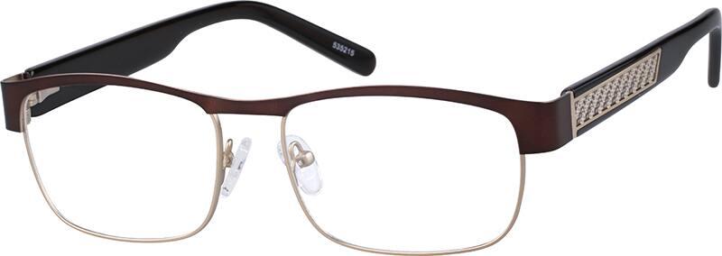 MenFull RimMixed MaterialsEyeglasses #535221