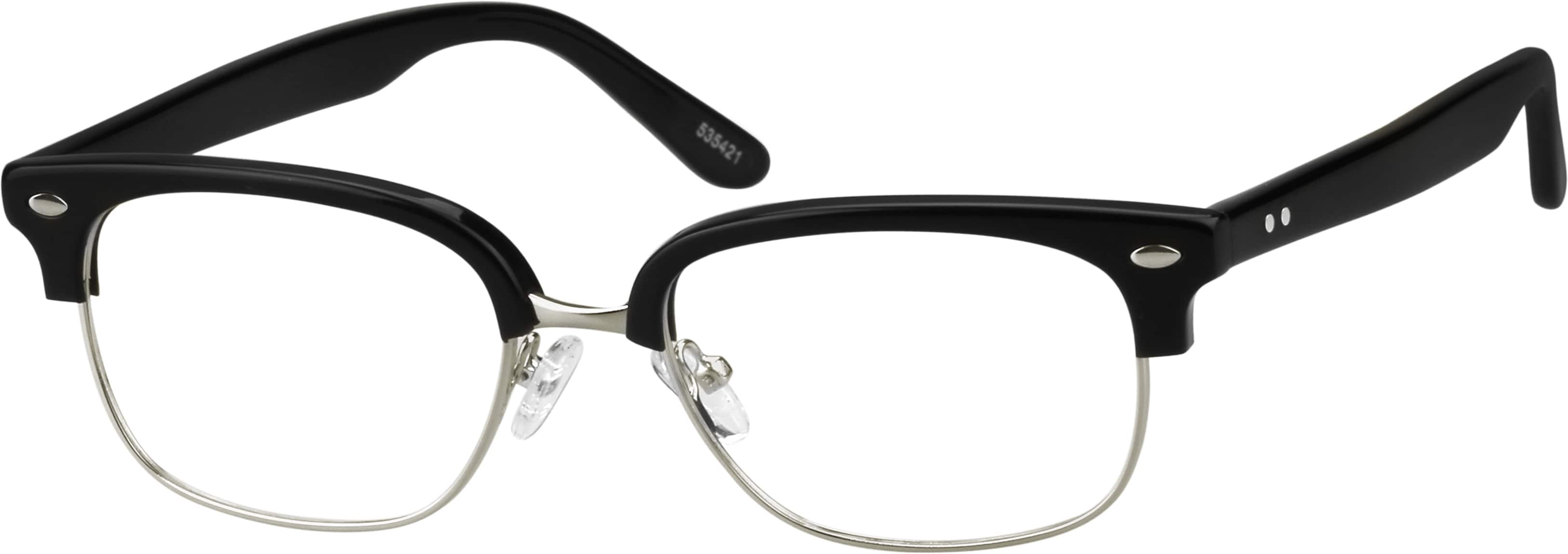 Unisex Full Rim Mixed Materials Eyeglasses #535421