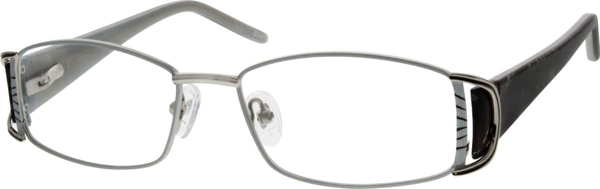 Men Full Rim Mixed Materials Eyeglasses #535611